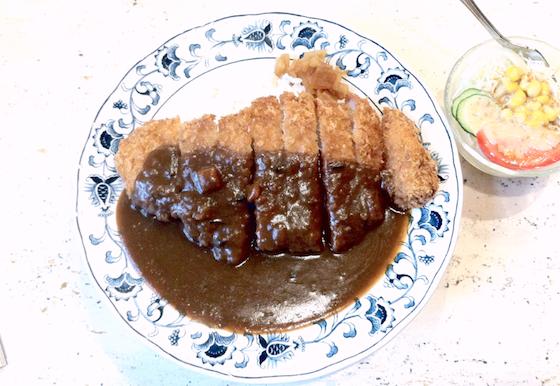 大阪の喫茶店で食べたカツカレー、店は忘れたけど美味しかった!