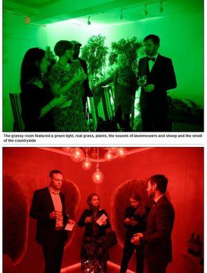 緑の部屋と赤い部屋