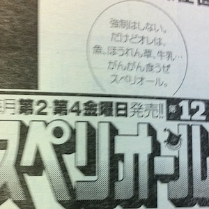 福島騒動「美味しんぼ」漫画誌 姉妹誌のキャッチコピーは「がんがん食うぜ」