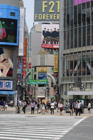 ※試合後数十分で閑散とした渋谷。