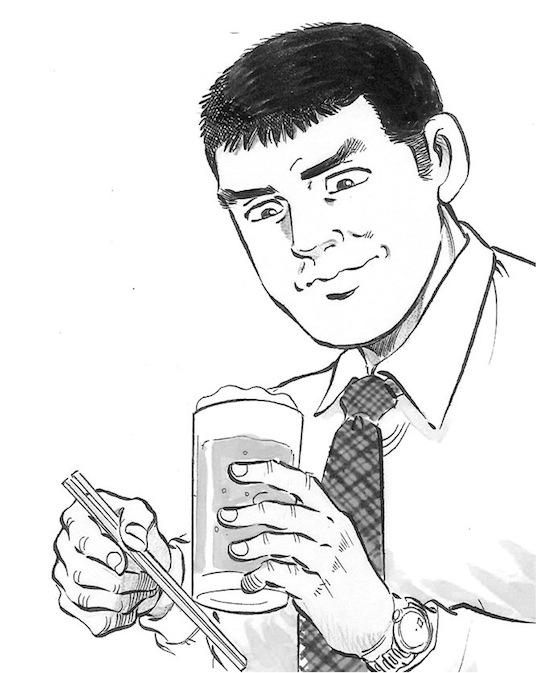 ※『週刊漫画ゴラク』に集中掲載されている「荒野のグルメ」原作・久住昌之、画・土山しげる。
