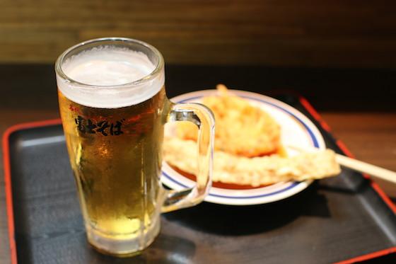 富士そばで飲む!