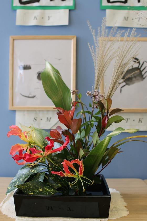 受刑者がいけた花。