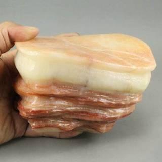 ヤフオクで巨大な豚肉型の石が300万で販売中 美味しそうで美しい…見るだけでお腹すく究極のジュエリーだ!!!