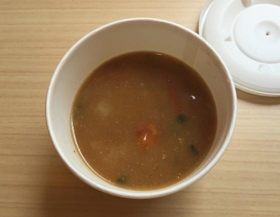 蒙古タンメンバーガーについてくるスープはマジで美味しい。