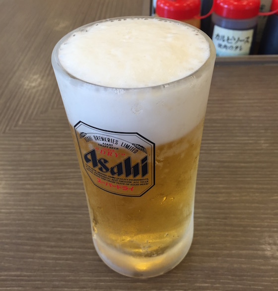 ビールは冷え冷え!