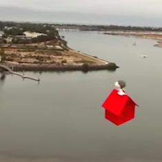 スヌーピー空飛ぶ小屋型ドローン登場、かわいすぎる! ドローンにはこんな素敵な可能性も
