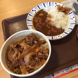 すき家 牛丼とカレー同時に食べて550円♪ カレーをおかずに牛丼、牛丼おかずにカレー…究極セットにファン歓喜