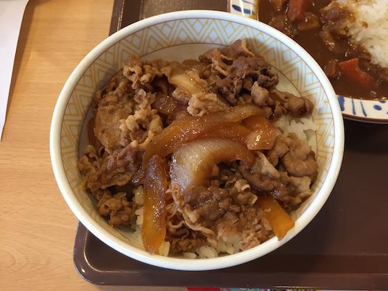 赤茶けてトリートメンな潤い無い髪、だが美貌あふれるヤンママ!とも評される激ウマ牛丼。