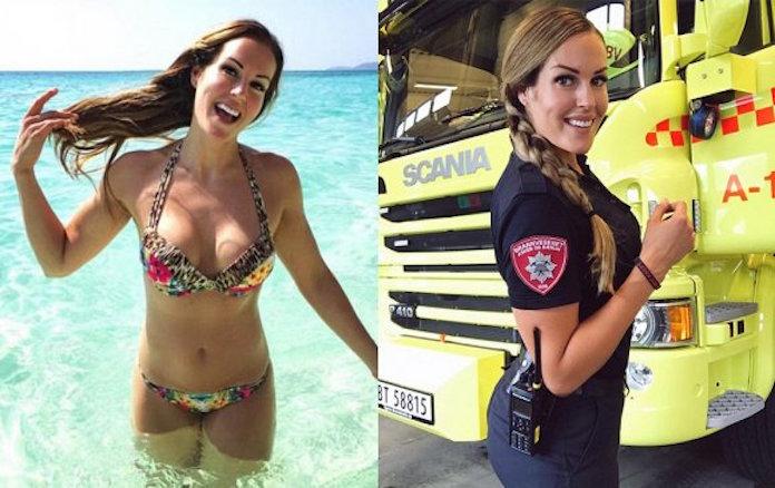 世界1美しい女性消防隊員が「家が燃えなきゃ会えない」アイドルと話題に