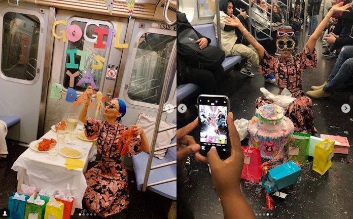 電車内で誕生日パーティした女性アーティストが炎上 列車内にテーブル設置、ワインやロブスターも