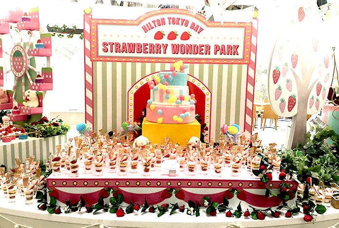 ディズニー横に「いちご天国」オープン! ヒルトン東京ベイ・苺デザートビュッフェ『ストロベリー・ワンダーパーク』は夢の国